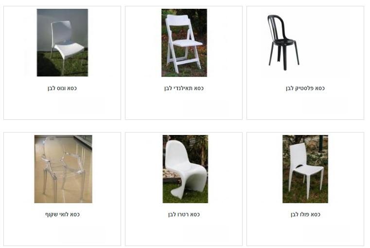 השכרת כיסאות לאירועים